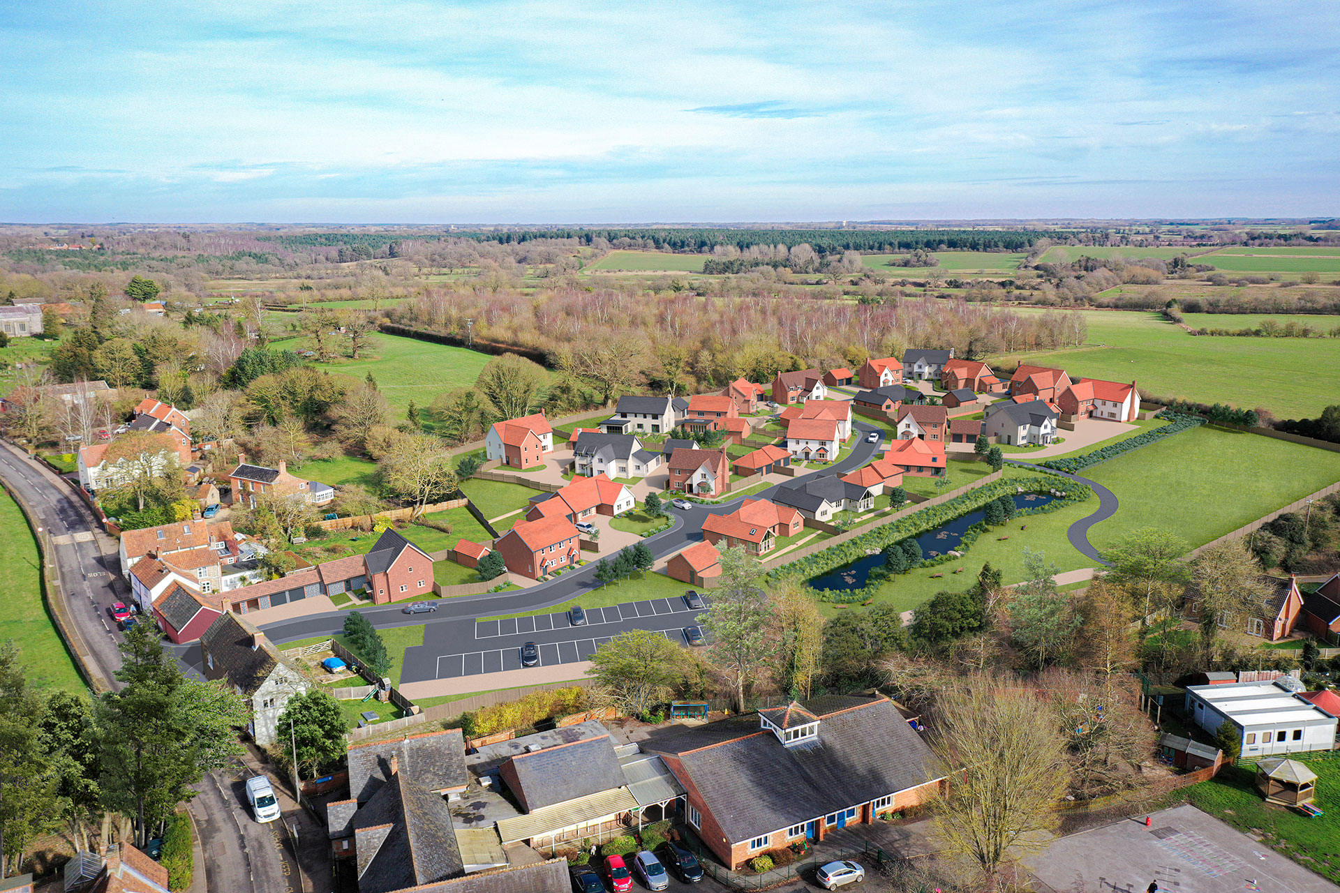 North Elmham aerial view